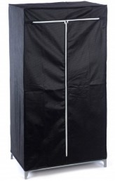 faltschrank schwarz 75x50x150cm kleiderschrank schrank campingschrank garderobe. Black Bedroom Furniture Sets. Home Design Ideas