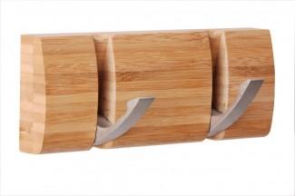 Wandgarderobe bambus kleiderhaken garderobe hakenleiste handtuchhalter haken neu ebay - Wandgarderobe bambus ...