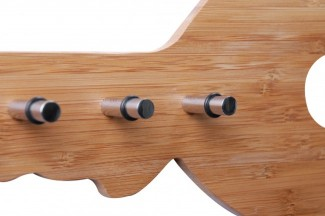 schl sselbrett bambus 6 haken schl sselboard hakenleiste schl sselleiste neu ebay. Black Bedroom Furniture Sets. Home Design Ideas