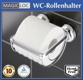 edelstahl wc toilettenpapierhalter rollenhalter ohne bohren papierrollenhalter ebay. Black Bedroom Furniture Sets. Home Design Ideas