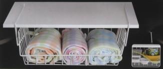 schrankkorb zum einh ngen metall regalkorb k chenregal regal aufbewahrungskorb ebay. Black Bedroom Furniture Sets. Home Design Ideas