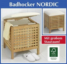 badhocker w schesack w schekorb holz hocker. Black Bedroom Furniture Sets. Home Design Ideas
