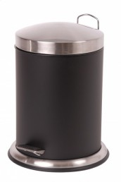 Stainless steel trash bin pedal bucket bathroom cosmetic for Purple bathroom bin