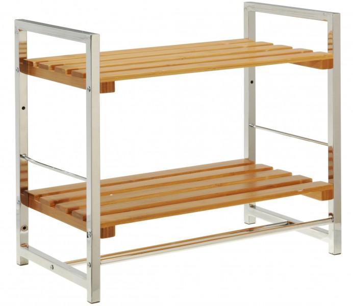 badregal bambus handtuchhalter badablage wandregal ebay. Black Bedroom Furniture Sets. Home Design Ideas