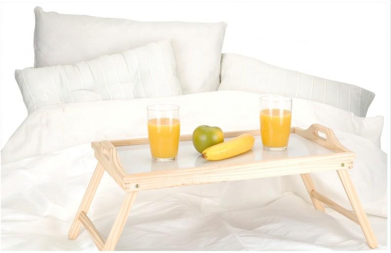 Madera bandeja de servir cama mesa desayuno ebay - Bandeja desayuno cama ...
