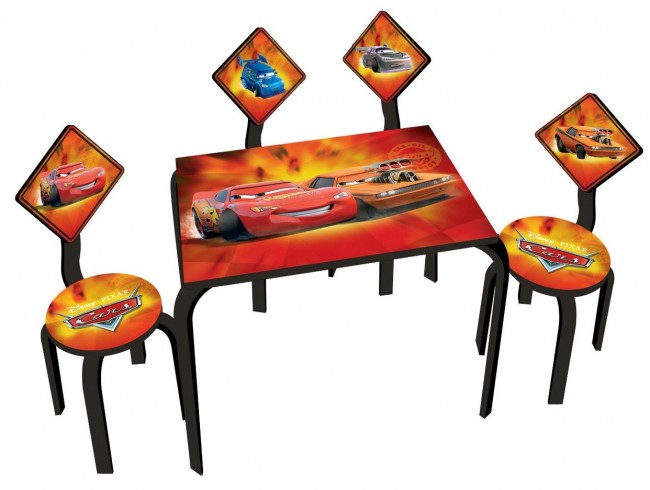 disney kinder sitzgruppe cars schreibtisch kinder stuhl ebay. Black Bedroom Furniture Sets. Home Design Ideas