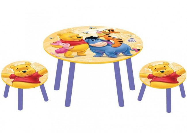 disney kinder sitzgruppe winnie pooh kinder tisch stuhl ebay. Black Bedroom Furniture Sets. Home Design Ideas