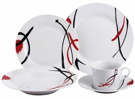 30 tlg geschirr set porzellan tafelservice kaffeeservice. Black Bedroom Furniture Sets. Home Design Ideas