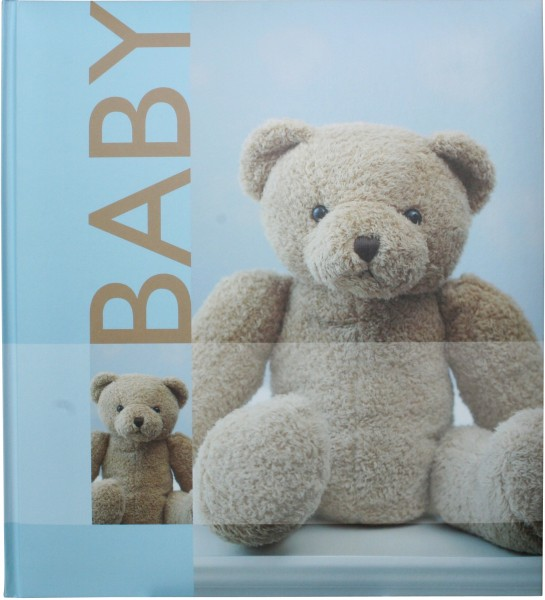 henzo baby fotoalbum blau aufbewahrungsbox teddy. Black Bedroom Furniture Sets. Home Design Ideas