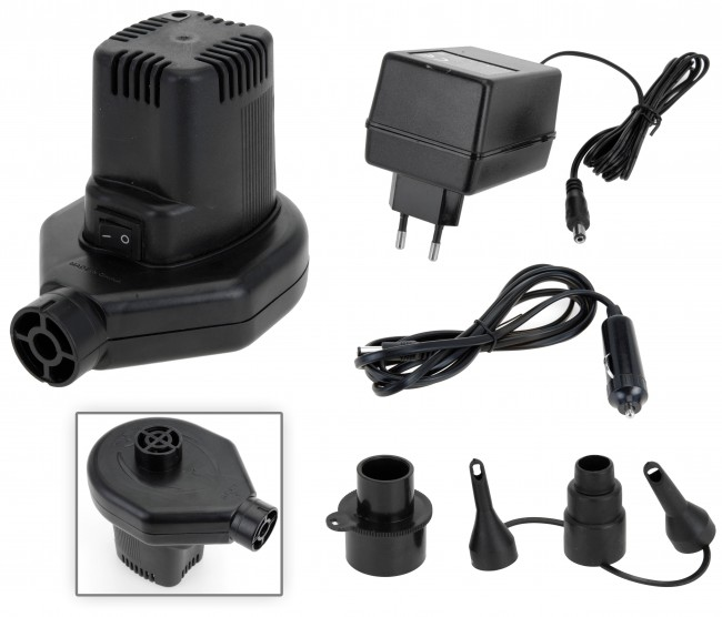 elektrische luftpumpe 230 v inkl 2 strom adapter pumpe f schlauchboot luftbett ebay. Black Bedroom Furniture Sets. Home Design Ideas