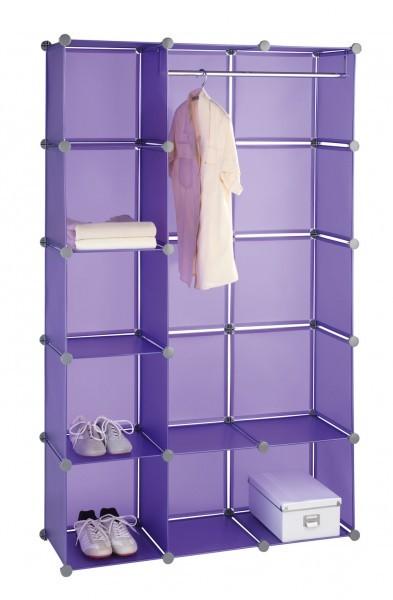 wenko kleiderschrank honey cube lila 106 x 174 x 34 5 cm schrank. Black Bedroom Furniture Sets. Home Design Ideas