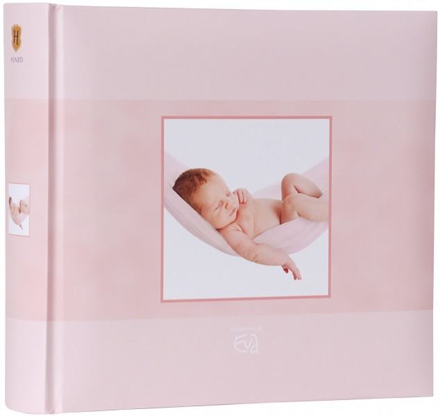 henzo einsteckalbum rosa baby album f r 200 fotos 10x15. Black Bedroom Furniture Sets. Home Design Ideas