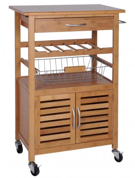 K chenwagen bambus servierwagen teewagen beistellwagen for Beistelltisch zum grillen