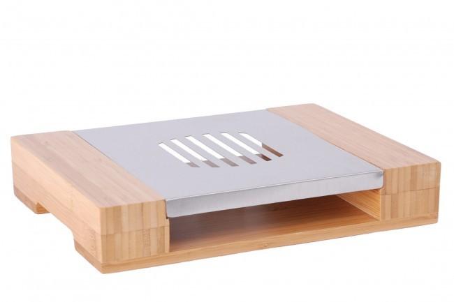 st vchen bambus edelstahl teew rmer untersetzer w rmer. Black Bedroom Furniture Sets. Home Design Ideas