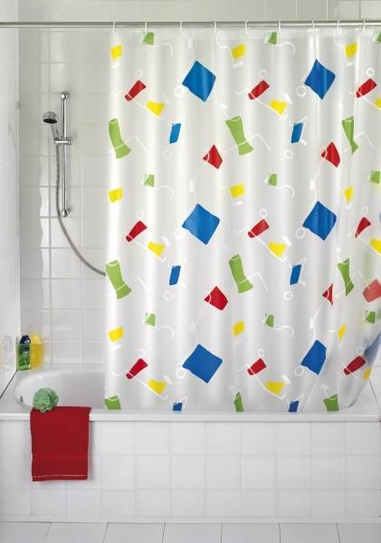 wenko duschvorhang 120 x 200 inkl duschvorhangringe bad dusche wanne vorhang ebay. Black Bedroom Furniture Sets. Home Design Ideas
