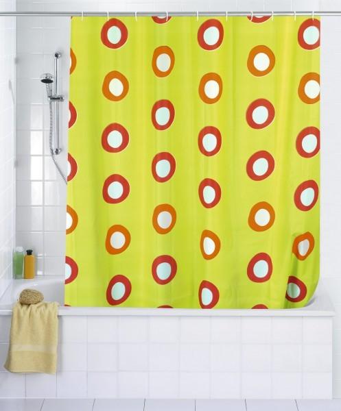 Dusche Vorhang Stange : 200 cm (BxH) – inkl. Duschvorhangringe – Vorhang f. Wanne oder Dusche