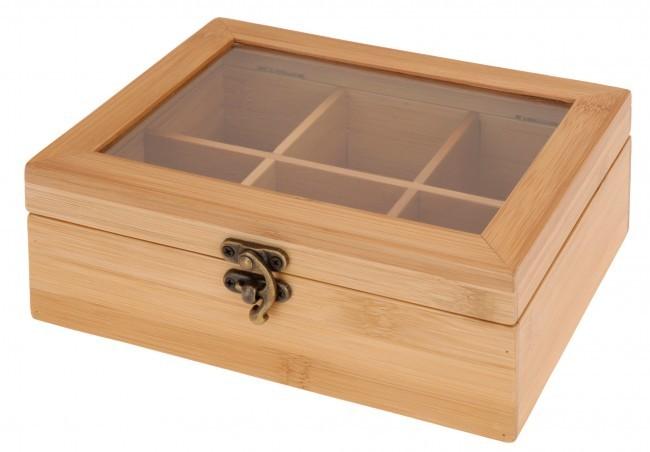 teekiste bambus teebox teedose dose teebeutel box tee aufbewahrung teebeutelbox ebay. Black Bedroom Furniture Sets. Home Design Ideas