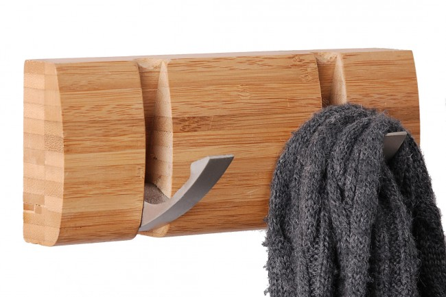 wandgarderobe bambus kleiderhaken garderobe hakenleiste handtuchhalter haken neu ebay. Black Bedroom Furniture Sets. Home Design Ideas
