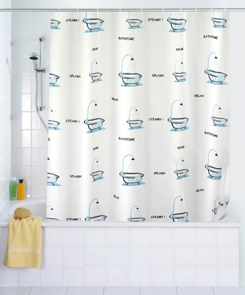 wenko duschvorhang 180 x 200 duschvorhangringe bad vorhang f r dusche badewanne ebay. Black Bedroom Furniture Sets. Home Design Ideas