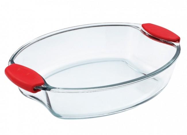 glas auflaufform 3 9l oval br ter sch ssel schale glasschale backform kuchenform ebay. Black Bedroom Furniture Sets. Home Design Ideas