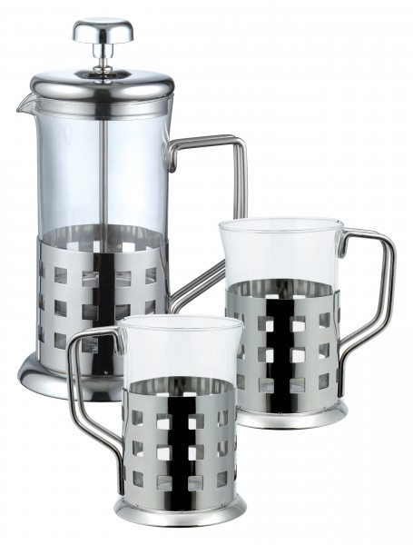 Glass Teapot Coffee Maker : Coffee Maker TEA Maker 800 ML Stainless Steel Glass 2 Glasses OF Coffee POT eBay