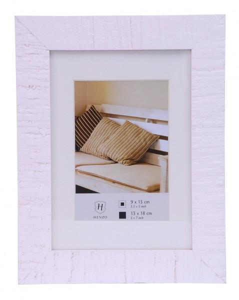 henzo holz bilderrahmen wei 13x18 fotorahmen rahmen holzrahmen holzbilderrahmen ebay. Black Bedroom Furniture Sets. Home Design Ideas