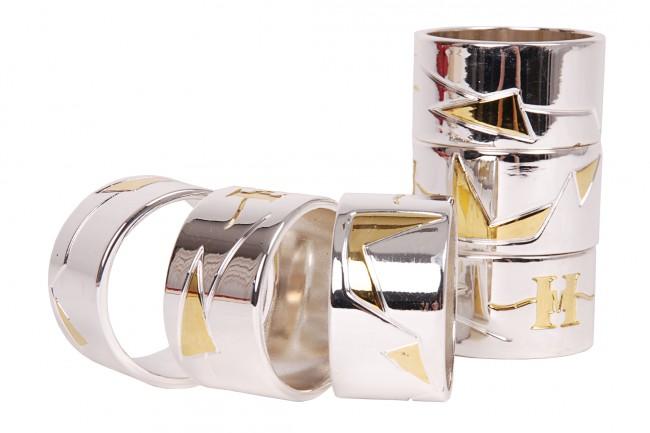 6 serviettenringe 4 5cm serviettenhalter servietten ring. Black Bedroom Furniture Sets. Home Design Ideas