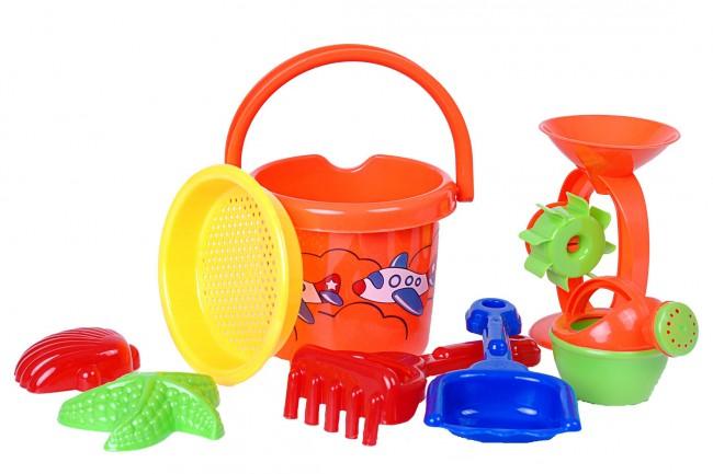 7 bzw 8 tlg sandspielzeug strand sandkasten spielzeug eimer schaufel gie kanne ebay. Black Bedroom Furniture Sets. Home Design Ideas