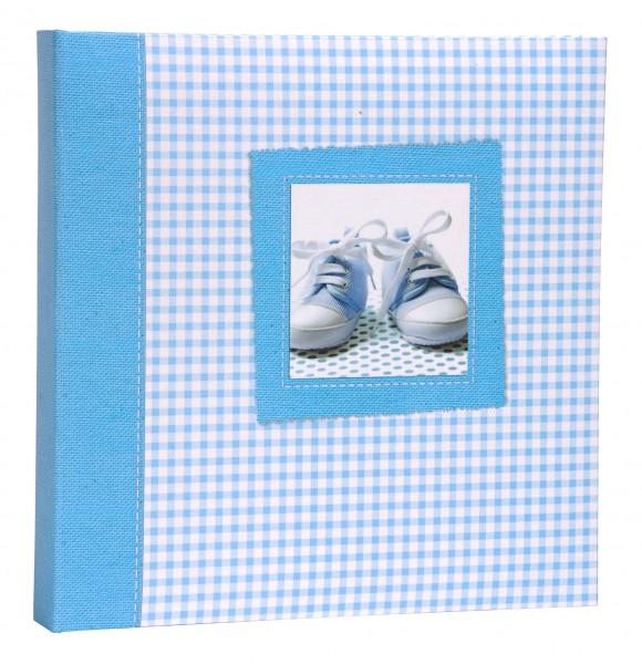 baby einsteckalbum blau fotoalbum 120 10x15 album babyalbum einsteckfotoalbum ebay. Black Bedroom Furniture Sets. Home Design Ideas