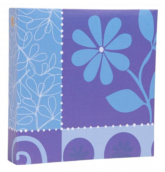 einsteckalbum flower blau album fotoalbum einsteckfotoalbum f r 200 fotos 10x15 ebay. Black Bedroom Furniture Sets. Home Design Ideas