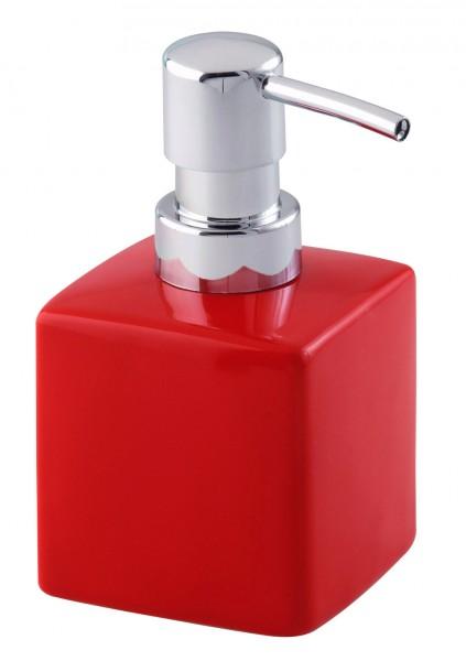 Wenko soap dispenser ceramic red holder bath doser for for Bathroom accessories shampoo holder