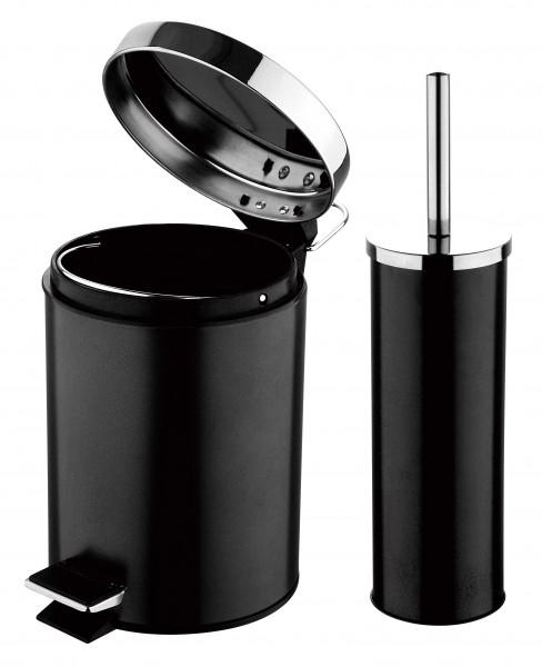 inox wc brosse brosse de toilette poubelle 3 l brosse wc. Black Bedroom Furniture Sets. Home Design Ideas