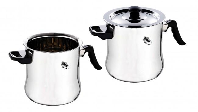 Inox casserole lait couvercle marmite 2 5 ou 3 litres - Bouilloire a lait ...