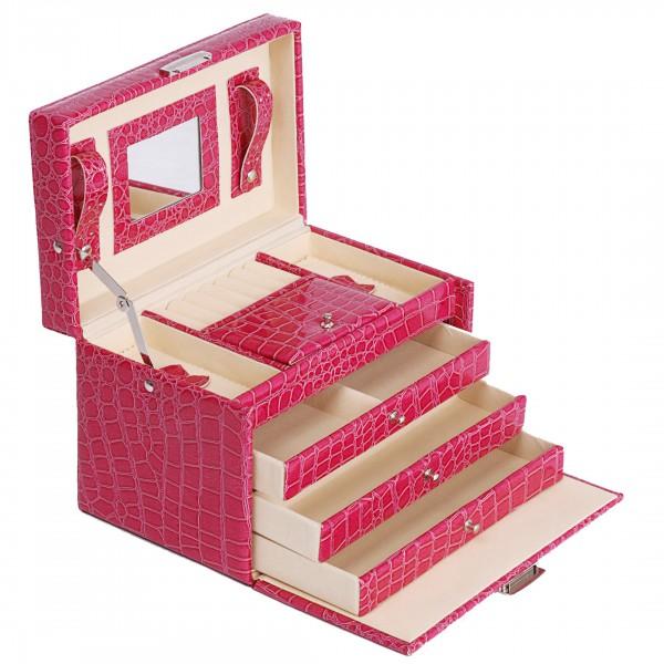 Joyero caja para joyas anillos cadenas malet n caja ba l - Caja joyero ikea ...