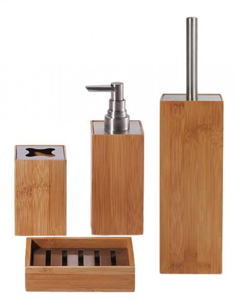 4 tlg badset seifenablage toilettenb rste zahnputzbecher seifenspender wc b rste ebay. Black Bedroom Furniture Sets. Home Design Ideas