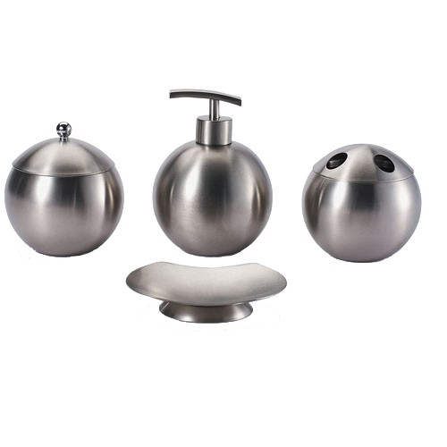 Acero inoxidable set de ba o jabonera dispensador de jab n for Set de bano acero inoxidable