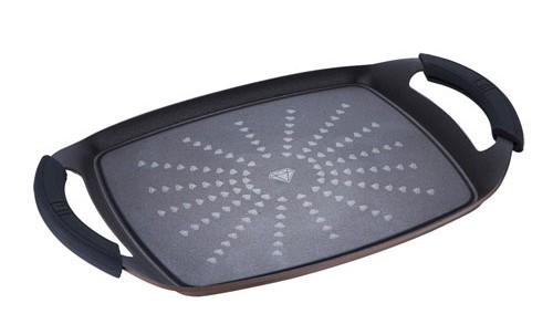 grillteller 36x23 cm induktion grillplatte pfanne. Black Bedroom Furniture Sets. Home Design Ideas