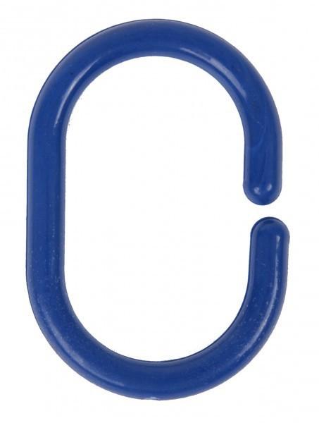 24 wenko duschvorhangringe oval blau duschvorhang ringe f r vorhang vorhangringe ebay. Black Bedroom Furniture Sets. Home Design Ideas