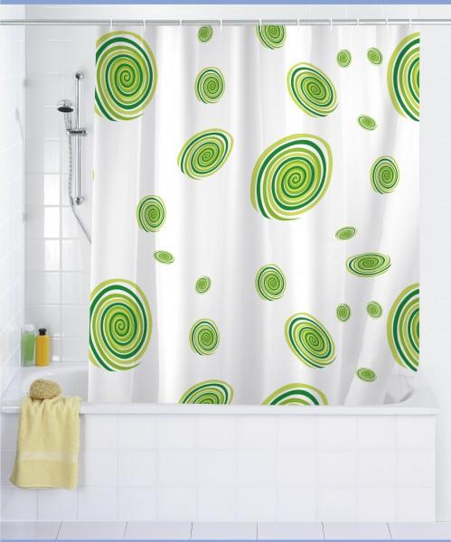 Wenko cortina de ducha 180 x 200 incl anillos ba o ba era for Argollas de cortinas de bano
