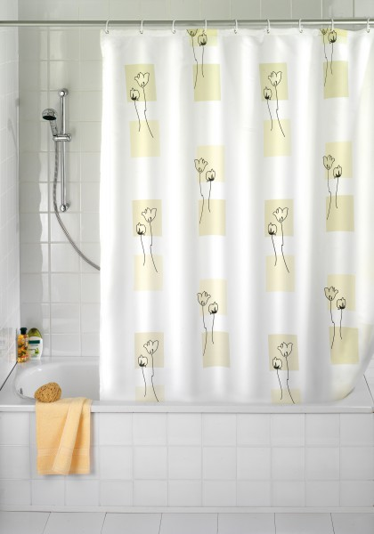 Textil Vorhang Dusche : Textil 180 x 200 inkl. Duschvorhangringe Dusche Wanne Vorhang eBay