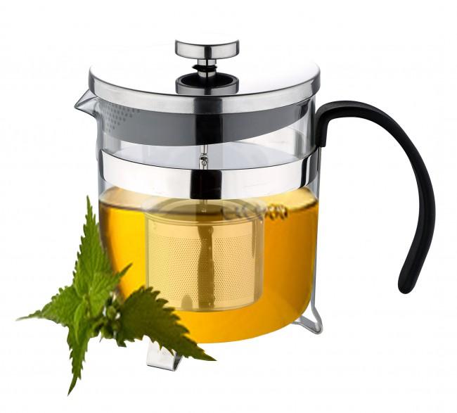 Glass Teapot Coffee Maker : Teapot 1L Tea ready Tea pot Strainer Teeei Glass jug Tea preparer tea pot eBay