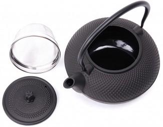 asiatische gusseisen teekanne 1 5 liter schwarz inkl. Black Bedroom Furniture Sets. Home Design Ideas