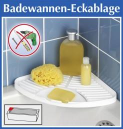wenko badewannen eckablage wei ohne bohren bad ablage f r dusche oder badewanne. Black Bedroom Furniture Sets. Home Design Ideas