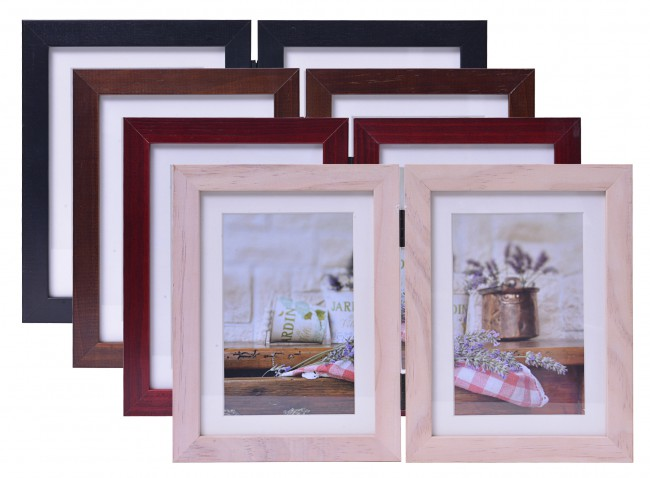 henzo doppel bilderrahmen jardin holz 2x10x15 foto rahmen holzrahmen fotorahmen ebay. Black Bedroom Furniture Sets. Home Design Ideas