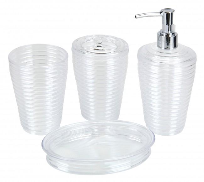 Set De Baño Jabonera:Piezas Set De Baño Jabonera Dispensador Jabón Vaso Cepillo Dientes